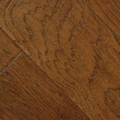 "medium brown hardwood floors | ... Hickory Omak- 6-1/2"" Medium Brown Hickory Handscraped Hardwood Floor"