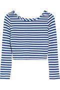 By Malene Birger Ticcal striped stretch-jersey cropped top NET-A-PORTER.COM