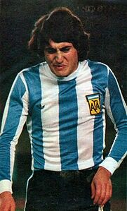 Norberto Alonso of Argentina in Argentina Football Team, Fifa, Fc Barcelona, Soccer, Alonso, Carp, 1970s, Plate, River