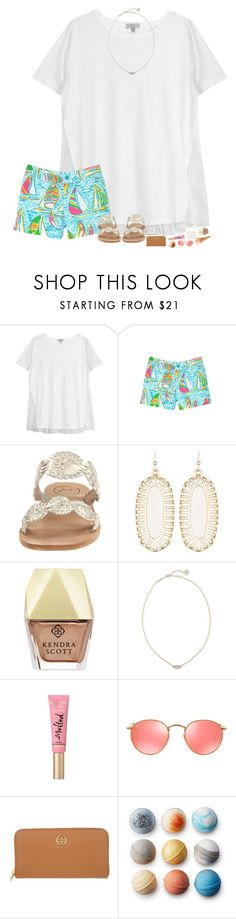 """""""haul in d :)"""" by hopemarlee ❤ liked on Polyvore featuring Clu, Lilly Pulitzer, Jack Rogers, Kendra Scott, Ray-Ban, Tory Burch and hmsloves"""