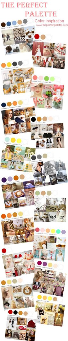 What color palettes inspire you? Click to Enlarge! http://www.theperfectpalette.com/p/color-palettes_17.html
