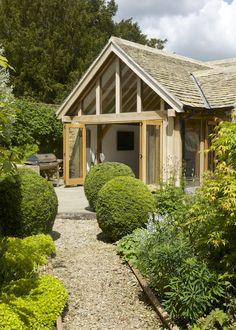 Garden Room entrance with Glazed Gable and Bi-folding doors - Garden Room entrance with Glazed Gable and Bi-folding doors -