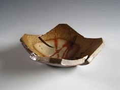 Cut square plate | James Erasmus Wood Fired Pottery/ 陶芸家 ジェイムス イラズムス