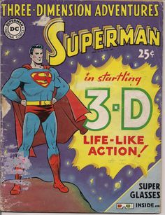 FOR SALE DC Comics1953 3D Three Dimension Adventures #QualityComicsAmerica