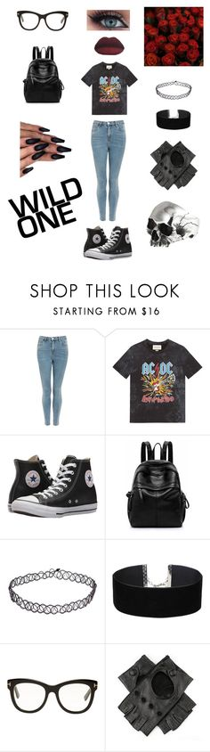 """""""rockstar babe"""" by sofia-rodic ❤ liked on Polyvore featuring Topshop, Gucci, Converse, Miss Selfridge, Tom Ford and Black"""