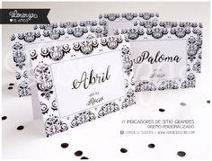 Indicadores de sitio / 15 y bodas. Diseño personalizado! LORENZADISEÑO.COM / infolorenza@gmail.com C.a.b.a. Argentina - Envíos a todo el país. #invitacionesde15 #sobrescalados #indicadoresdesitio