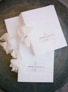 Wedding Program Gorgeous ceremony programs printed with a hand drawing of the church. - Romantic Destination Wedding in Greece - Destination Wedding Invitations, Wedding Stationary, Wedding Planning, Destination Weddings, Beach Weddings, Wedding Paper, Our Wedding, Wedding Ideas, Trendy Wedding
