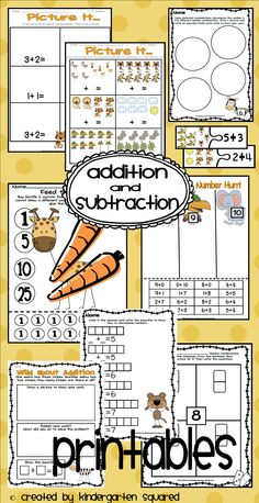 Kindergarten Squared: Freebie Addition Game, Unit Shape Shout Out! Addition Games, Math Addition, Addition And Subtraction, Math Classroom, Kindergarten Math, Preschool, Kindergarten Addition, Classroom Ideas, Teaching Time
