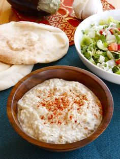 Creamy Baba Ghanoush - Recipe for Middle Eastern Eggplant Dip with Tahini and Garlic by Tori Avey. Healthy and delish! Middle East Food, Middle Eastern Dishes, Middle Eastern Recipes, Lebanese Recipes, Jewish Recipes, Israeli Recipes, Kosher Recipes, Cooking Recipes, Guacamole