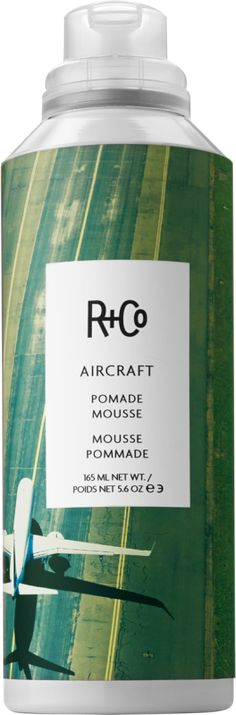 This body-building texture maker looks like a mousse and acts like a pomade, separating our strands without the mineral oil, petroleum, sulfates, parabens — or most impressively — that icky grease factor.  R+Co Aircraft Pomade Mousse