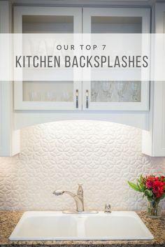A unique handmade tile backsplash is the star of this modern vintage kitchen renovation. Shabby Chic Kitchen, Farmhouse Style Kitchen, Modern Farmhouse Kitchens, Vintage Kitchen, Kitchen Decor, Kitchen Ideas, Kitchen Inspiration, Kitchen Designs, Diy Kitchens