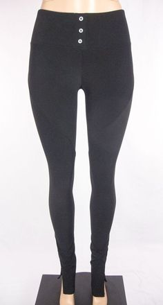 ELIZABETH AND JAMES Pants Size XS Black Stretch Slim Skinny Leg #ElizabethandJames #StretchKnitPants