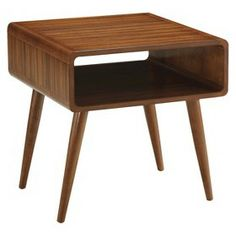 Mad Men yo, it's gettin mid century modern up in this joint! 20% off Target furniture. Alborg Accent Table - Brown : Target Mobile