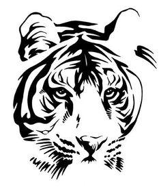 Origami Tattoo Tiger Tatoo Ideas For 2019 Tiger Stencil, Animal Stencil, Stencil Art, Stencils, Stencil Patterns, Stencil Designs, Tattoo Patterns, Tigergesicht Tattoo, Tiger Face Tattoo