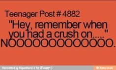 Hey remember when you had a crush on...NOOOOOOOO