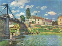 Alfred-Sisley -The Bridge of Argenteuil 1872 https://dashburst.com/art_printworld/3