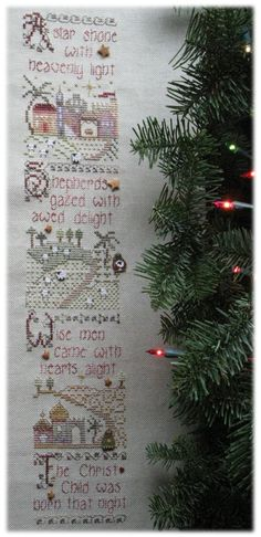Holy Night by Shepherd's Bush A star shone with heavenly light Shepherds gazed with awed delight Wise men came with hearts alight The Christ Child was born that night Holy Night by Shepherd's Bush Summer Khaki Cork linen (19ct) Stitched with Crescent Colours, GAST, WDW, RG Petite Alpaca