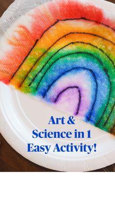 Rainbow Crafts Preschool, Rainbow Activities, Preschool Science Activities, Toddler Learning Activities, Art Activities For Kids, Kindergarten Science, Science For Kids, Science Experiments For Toddlers, Art Activities For Preschoolers