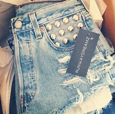 in need of high waisted jean shorts