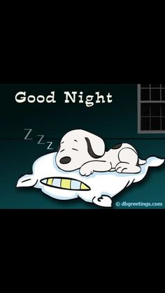 Snoopy sleeping on a pillow. Good Night Greetings, Good Night Messages, Good Night Wishes, Good Night Sweet Dreams, Sweet Night, Good Night Sleep Tight, Good Night Image, Good Morning Good Night, Quote Night