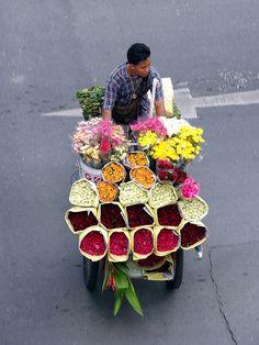 Flower vendor - Thailand