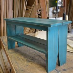 SALE Handmade Sturdy Wooden Bench with by signedandnumbered, $89.00