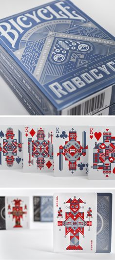 Robocycle  excellent cards for playing cards around the office, illustrated by Luke Bott :)