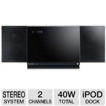 Panasonic SC-HC37 Compact Audio System with Universal iPod Dock