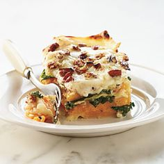 Butternut-Kale Lasagna | MyRecipes.com #myplate #vegetables #protein #grain