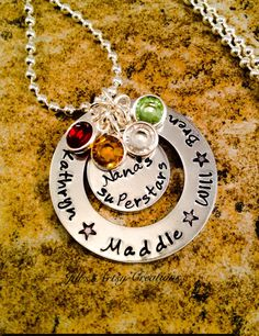 Grandma Necklace Nana's Superstars Necklace by JillsArtsyCreations