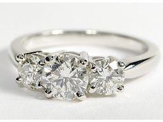Platinum 3 stone engagement ring   I Do Now I Don't