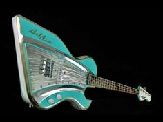 Surf Rock vintage-style guitar made from vintage car parts by Dave Gartland