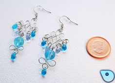 Celtic Blue earings by CervelleDoiseau on Etsy