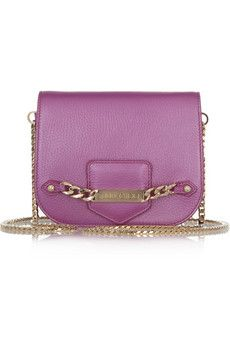 Shadow pearlescent leather shoulder bag by JImmy Choo