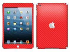 iPad mini Red Carbon Fiber Front and Back Skin by by iCoverSkin, $24.95