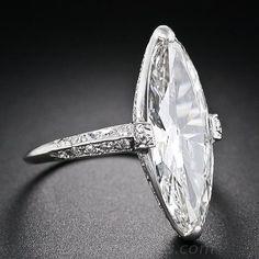 Cartier 3.98 Carat Marquise Art Deco Diamond Ring