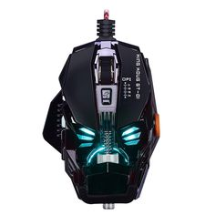 Detachable Mice Adjustable 4000DPI Mechanic Laser Gaming Mouse 8 Buttons 7 Color Breathing Light Macro Programming For PC Gamer