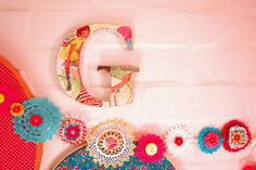 crochet doily garland - even has my initial...Perfect!
