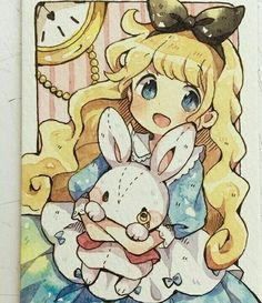 Alice in wonderland - chibi Anime Drawings Sketches, Anime Sketch, Kawaii Drawings, Cute Drawings, Arte Do Kawaii, Kawaii Art, Kawaii Anime, Anime Chibi, Anime Art Girl