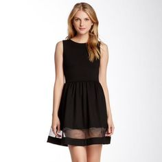Lbd With Sheer Panel Detail