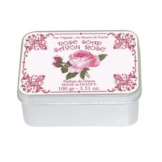PERFUME ROSE Flowery and romantic fragrance, enlivened by a powdered background, our perfume Rose perfectly evokes the fragility and the delicacy of the queen of the flowers. Rose Soap, Tin, Fragrance, Container, Perfume, Romantic, Soap, Romantic Things, Pewter