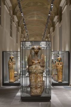 Sarcophagus Exhibit in the Egyptian Museum - Turin, Italy