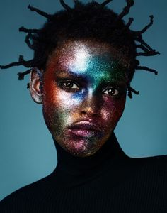 "midnight-charm: "" ""Glitter Bomb"" Amilna Estevão photographed by Jason Kim for…"