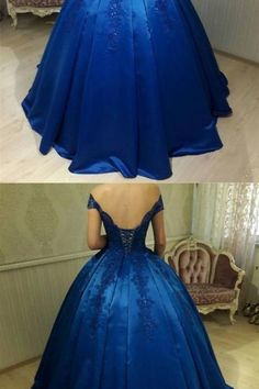 New Fashions Ball Gown Lace Prom Dresses ,Off Shoulder Prom Dress ,Satin Prom Dresses, Sexy Royal Blue Evening Gowns Off Shoulder Ball Gown, Off Shoulder Evening Dress, Evening Dresses, Prom Dresses, Formal Dresses, Royal Blue Evening Gown, New Fashion, Beautiful Dresses, Ball Gowns