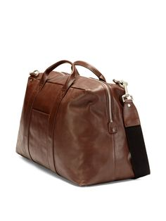 Jack Spade Mill Leather Wayne Duffel Bag