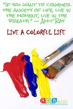 """""""If you want to conquer the anxiety of life, live in the moment, live in the breath."""" ~ Amit Ray"""