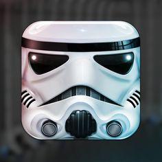 Star Wars Icons, Star Wars Art, Stormtrooper Art, Launcher Icon, Web Design Mobile, Design Responsive, Smartphone, App Icon Design, Site Design