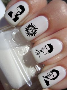 Supernatural Dean Sam Castiel Nail Decals by DecalsAndDecals