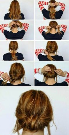 Chic Chignon hairstyle is perfect for you, if you want to special hairdo for a party or occasion. Chignon hairstyle gives a unique look to your hair. Summer Hair Buns, Easy Hair Buns, Braids Easy, Dutch Braids, Simple Braids, Hair In A Bun, Good Hair Day, Tips Belleza, Hair Today