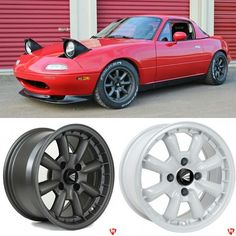 "topmiata: ""Order your Enkei Compe Wheels set at www.topmiata.com/compe/ (Shipping within Europe).  Available in Gunmetal or White! 